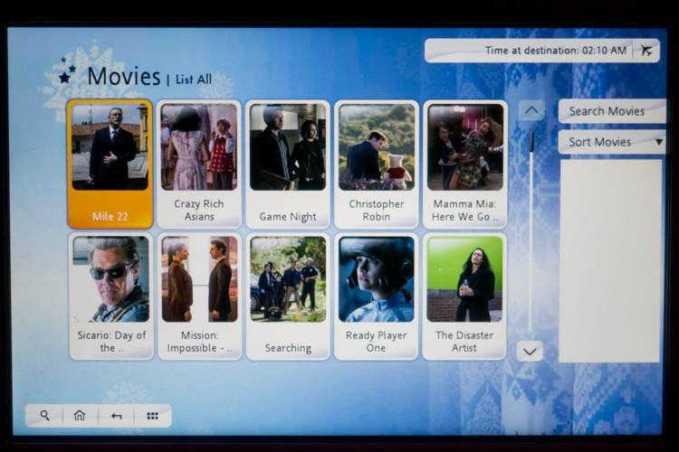 Garuda Indonesia In-Flight Entertainment System Movies