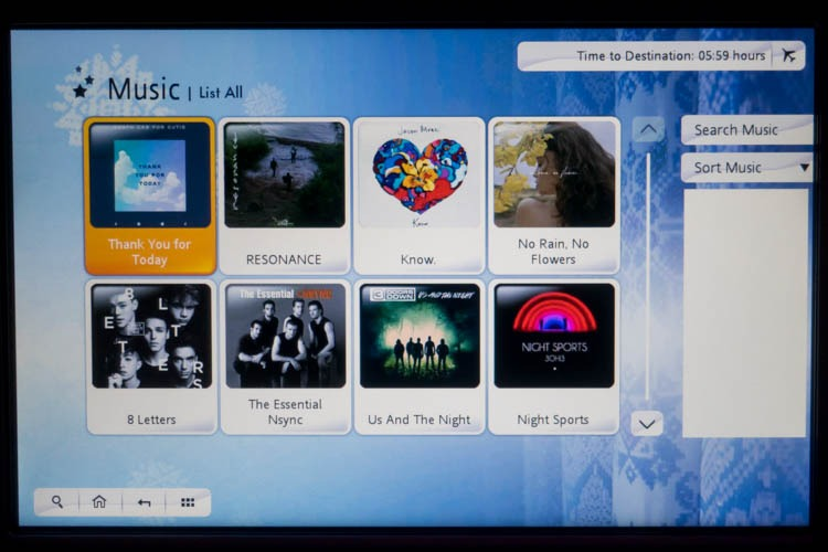 Garuda Indonesia In-Flight Entertainment System Music