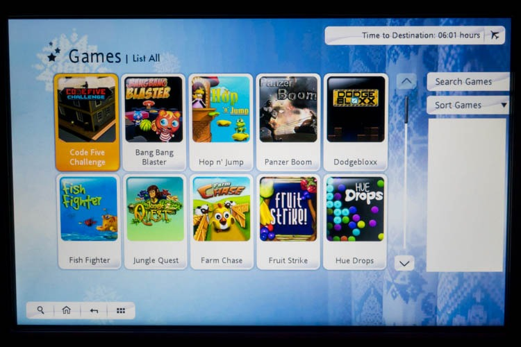 Garuda Indonesia In-Flight Entertainment System Games