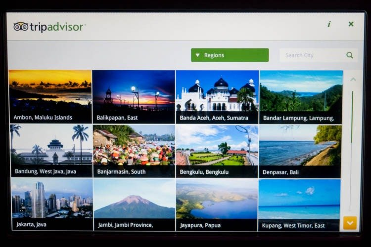 Garuda Indonesia In-Flight Entertainment System TripAdvisor