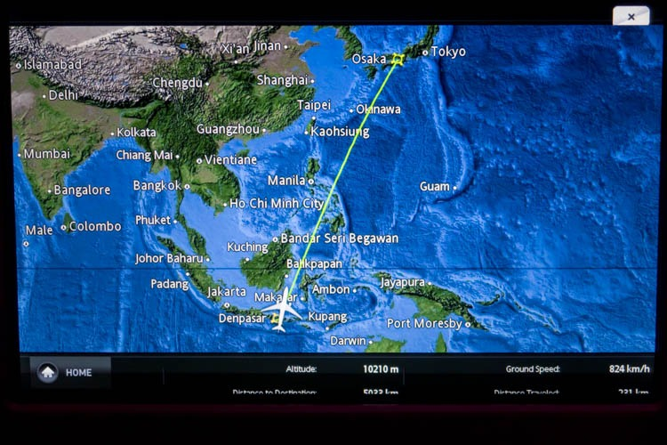Garuda Indonesia In-Flight Entertainment System Moving Map