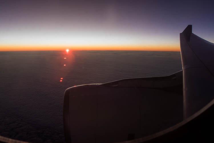 Sunrise Onboard Garuda Indonesia