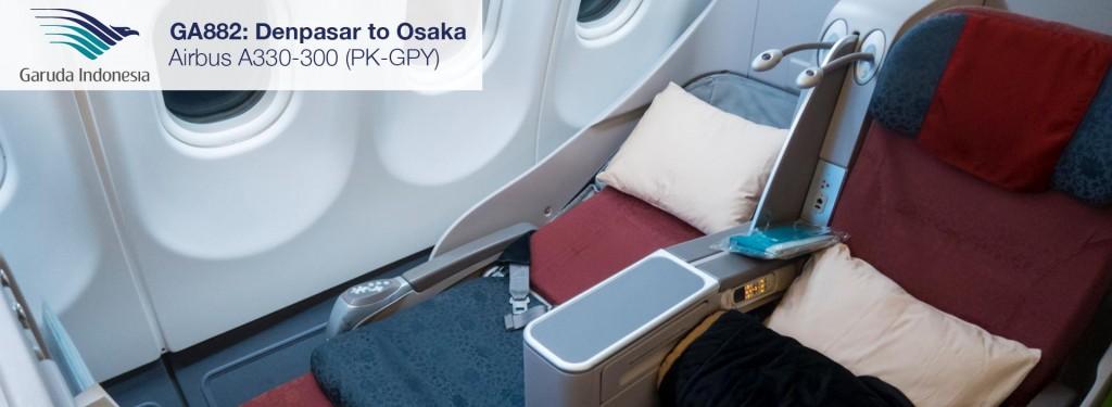 Review: Garuda Indonesia A330-300 Business Class from Denpasar to Osaka