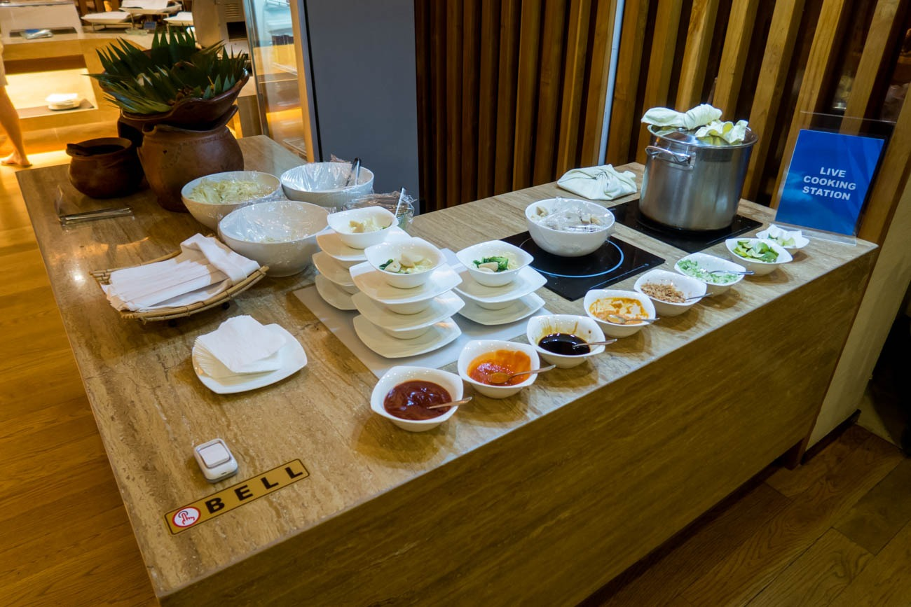 Garuda Indonesia Business Class Lounge Bali Live Cooking Station