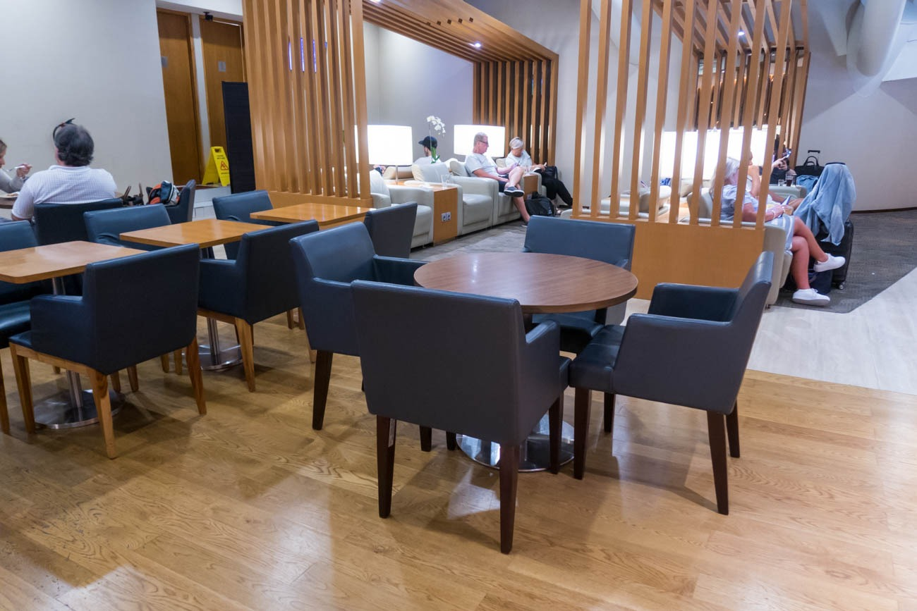Garuda Indonesia Business Class Lounge Bali Dining Area