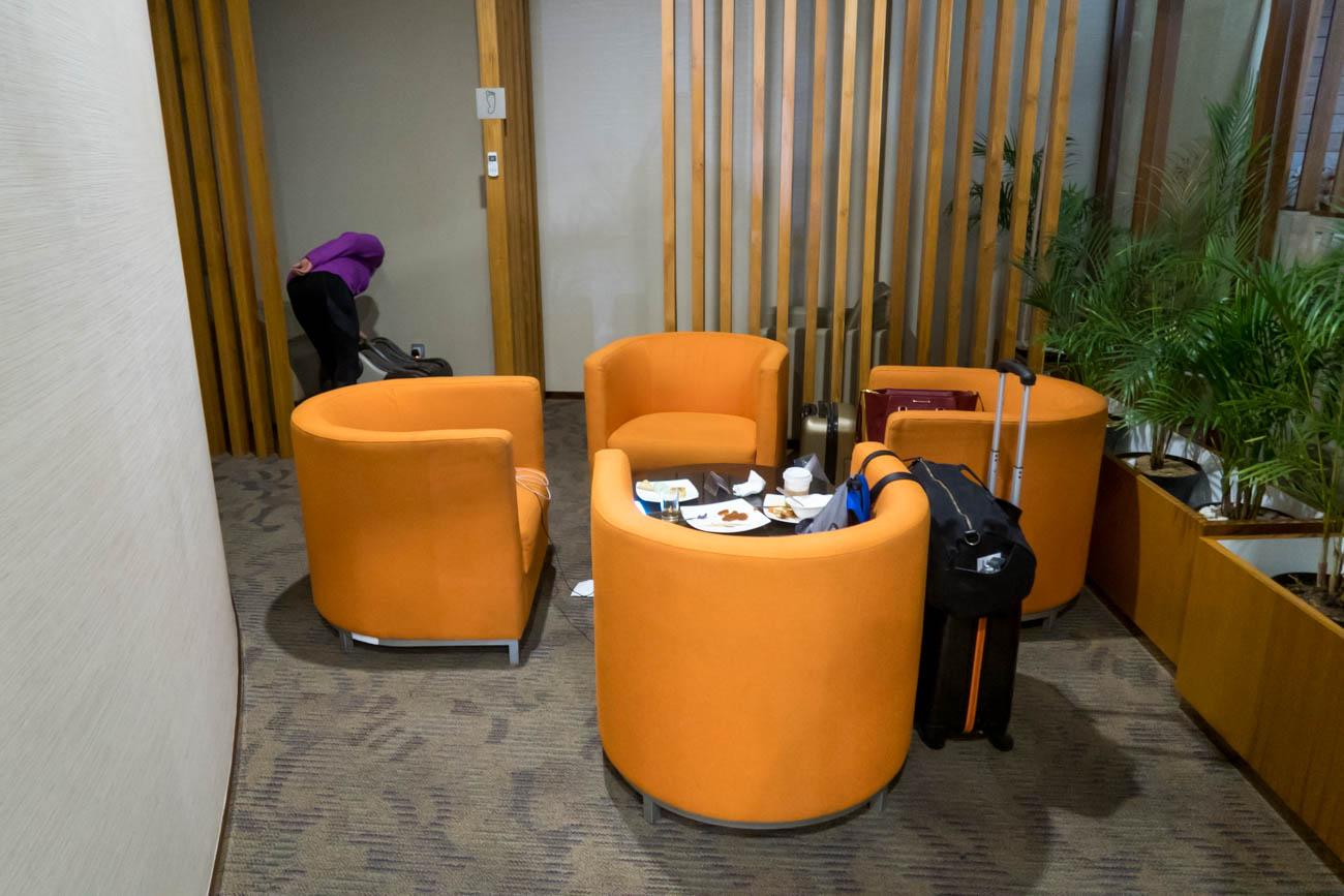 Garuda Indonesia Business Class Lounge Bali Seating and Foot Mas