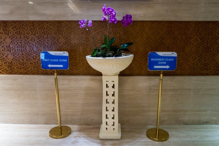 Bali Denpasar Airport Garuda Indonesia Lounge Entrance