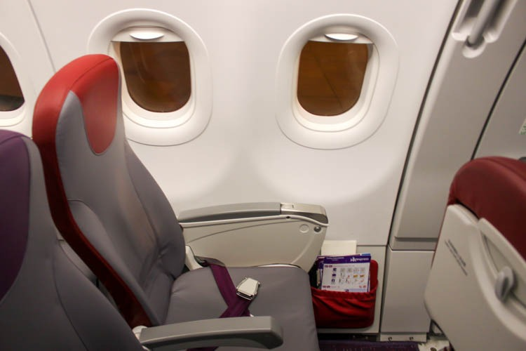 HK Express Airbus A321 Seat 12A