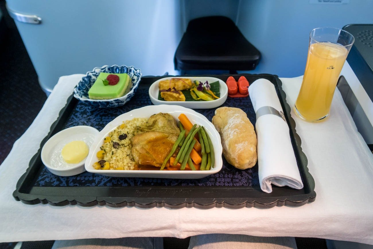 KLM Fifth-Freedom Business Class Dinner