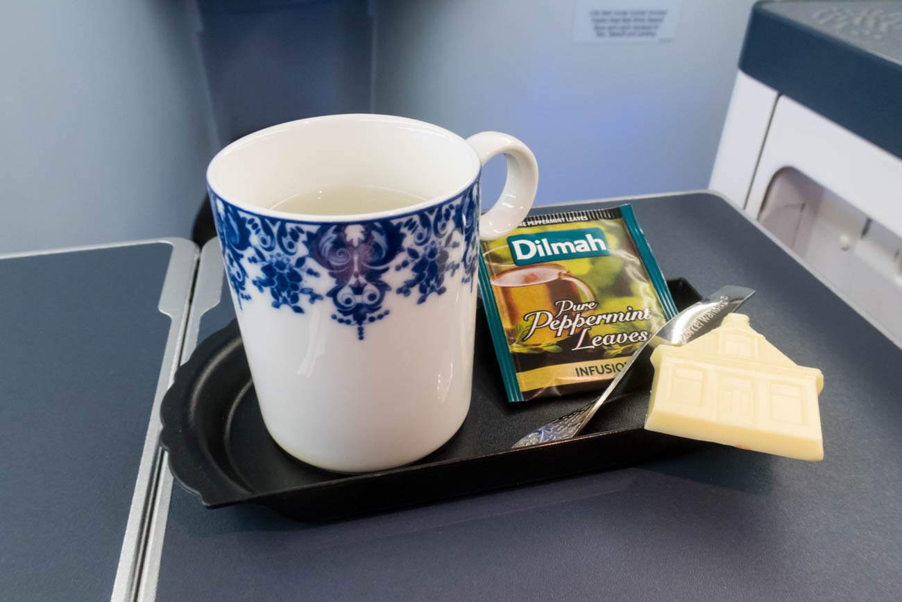 KLM Business Class Chocolate and Tea