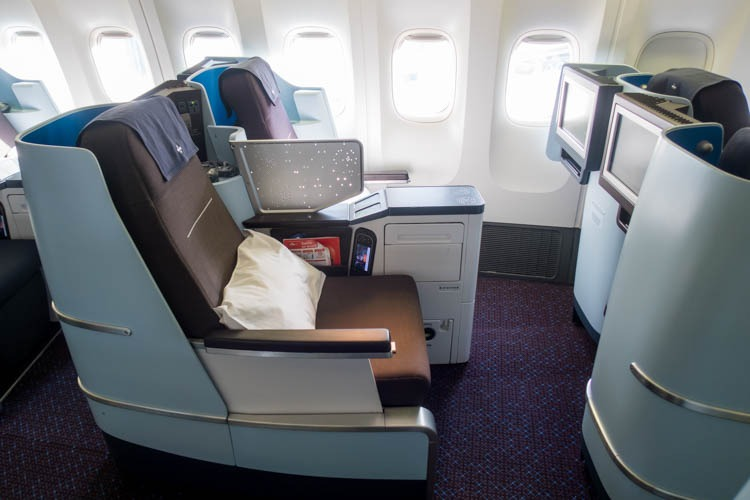 KLM Boeing 777-200ER Business Class Seats