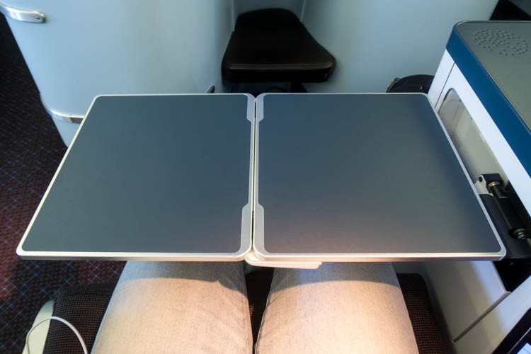 KLM Boeing 777-200ER Business Class Seat Tray Table