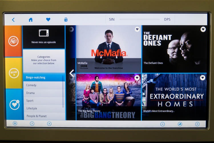 KLM In-Flight Entertainment System TV Shows