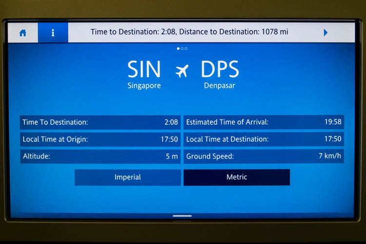 KLM In-Flight Entertainment System Flight Information