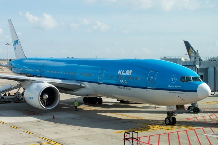 KLM Boeing 777-200ER at Singapore Changi Airport