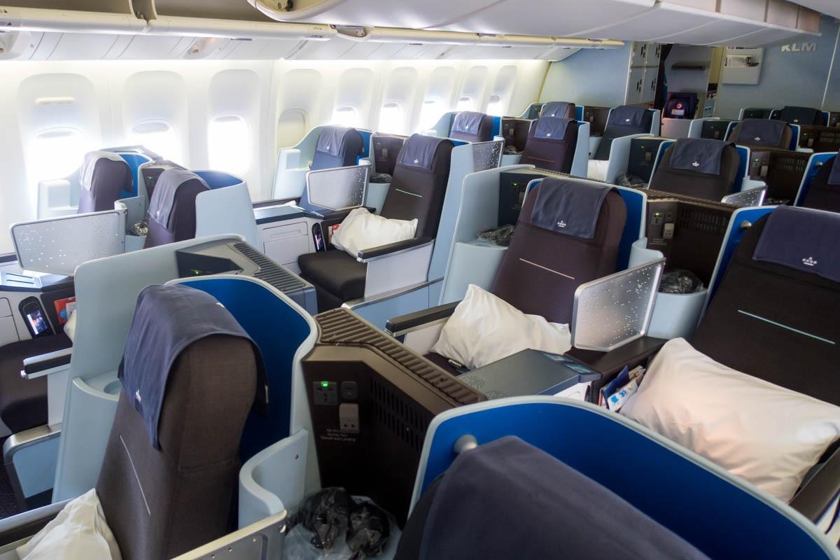 KLM 777-200ER Business Class Cabin