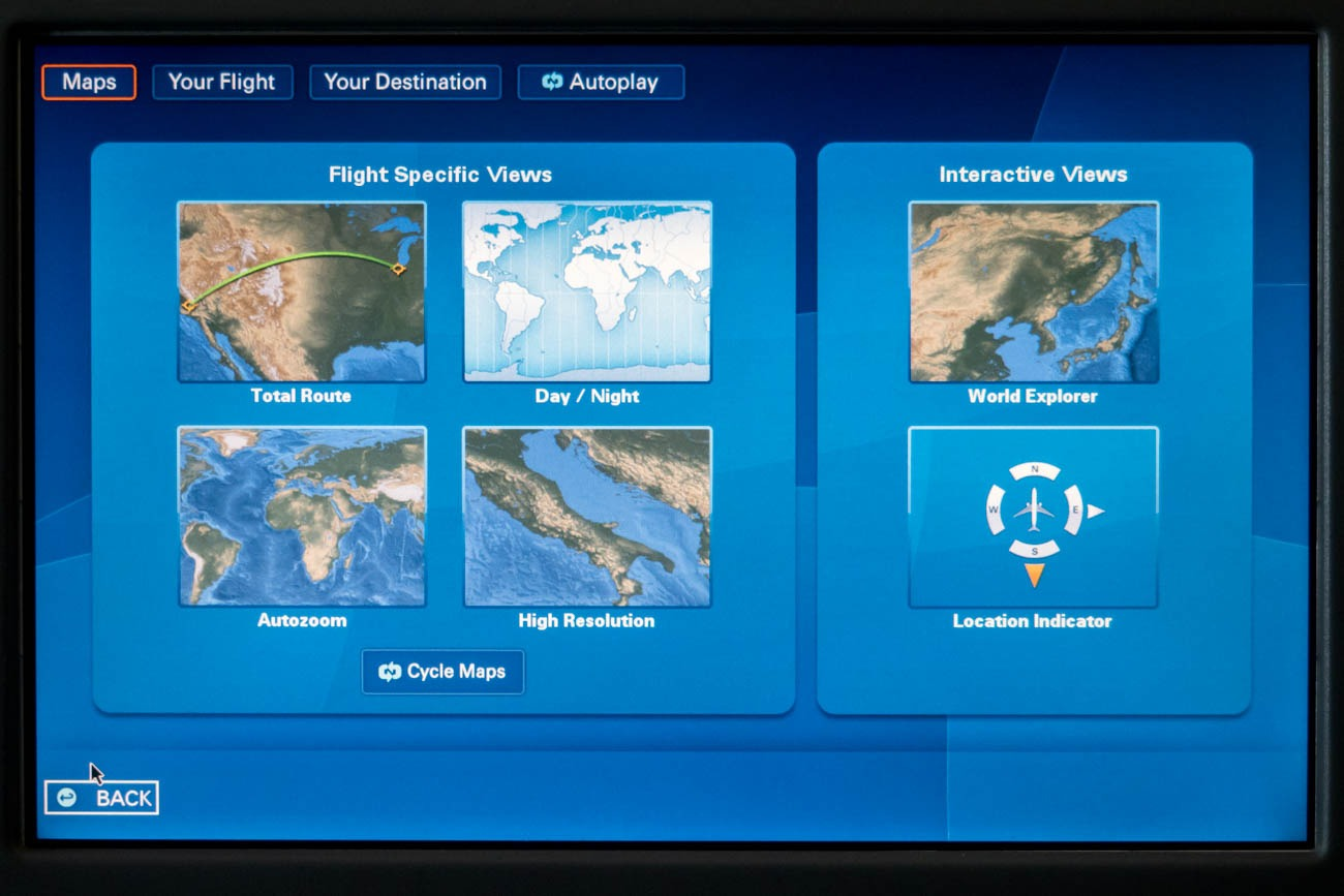 LOT 787-8 In-Flight Entertainment System Maps