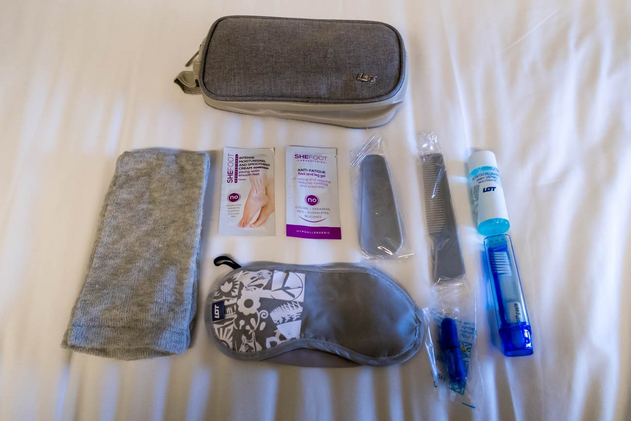 LOT Polish Airlines Amenity Kit
