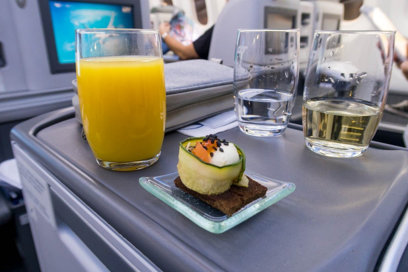 LOT Polish Airlines Welcome Drink