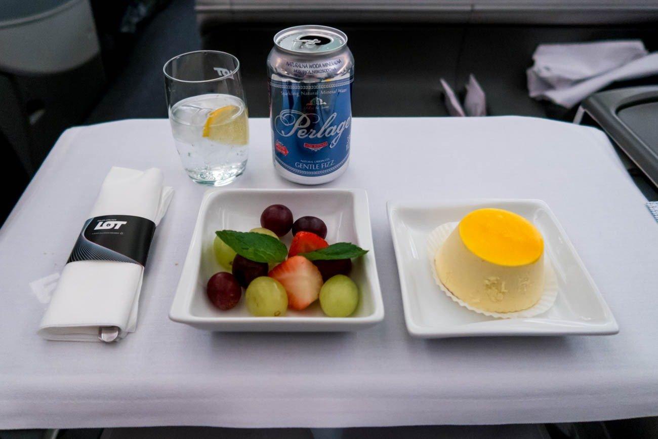LOT Polish Airlines Business Class Dinner Dessert