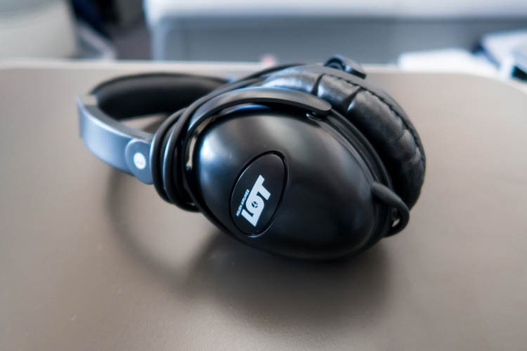 LOT Polish Airlines Business Class Headset