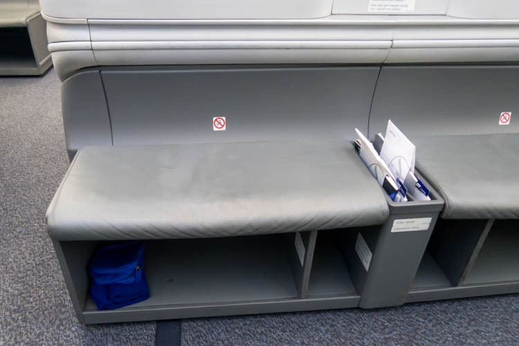 LOT Polish Airlines Business Class Seat Ottoman