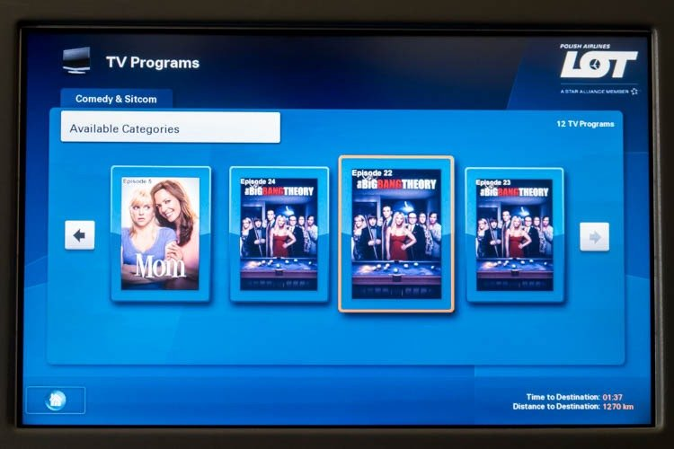 LOT 787-8 In-Flight Entertainment System TV Shows