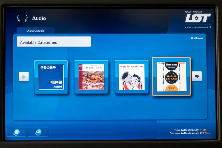 LOT 787-8 In-Flight Entertainment System Audiobooks