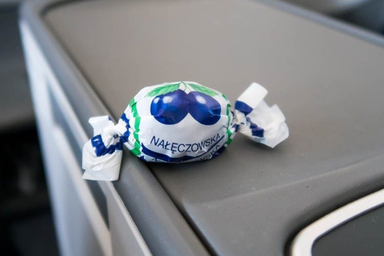 LOT Polish Airlines Pre-Landing Chocolate