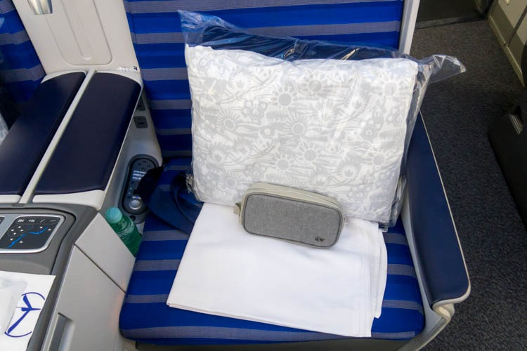 LOT Polish Airlines Bedding and Amenity Kit