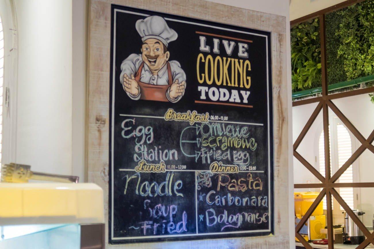 T/G Lounge Denpasar Bali Live Cooking Station Menu