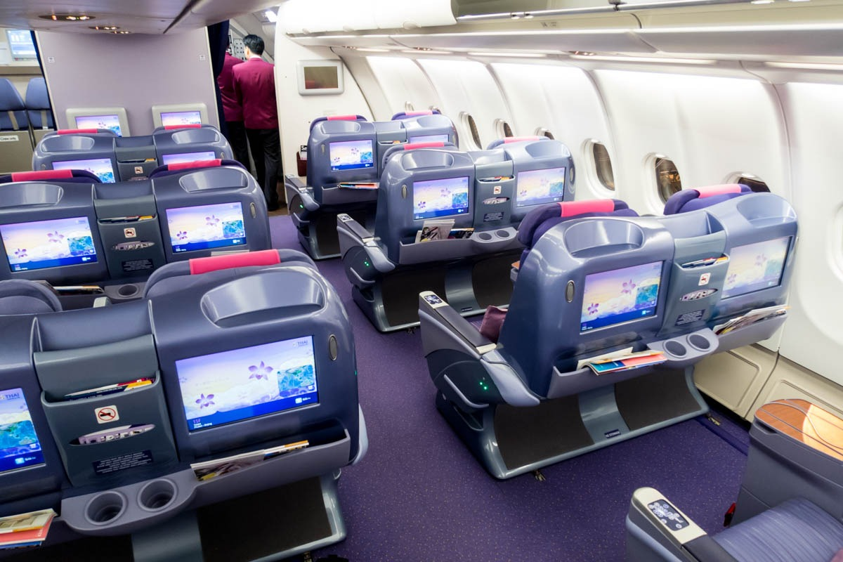 Thai Airways A330 Angle-Flat Business Class Seats