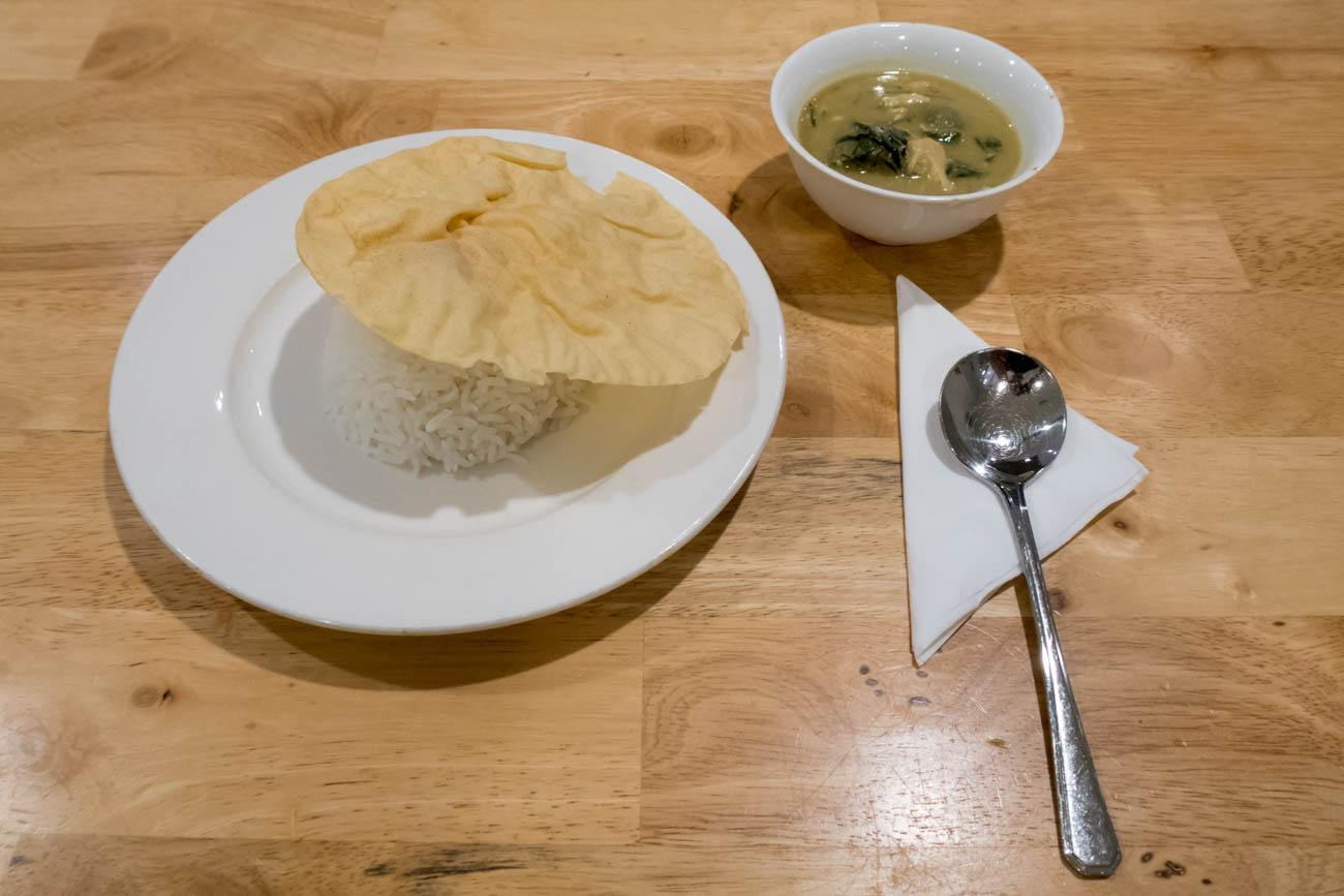 The Haven by JetQuay Green Curry Hot Meal