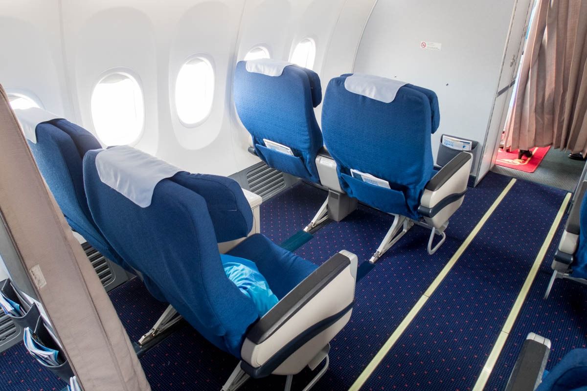 Xiamen Airlines Business Class Cabin with Recliner Seats