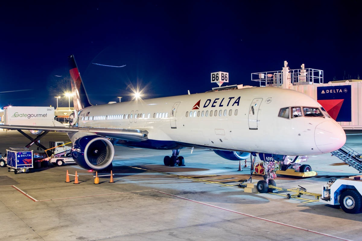 Delta Air Lines at Atlanta Airport Leading to Taxiway Dixie