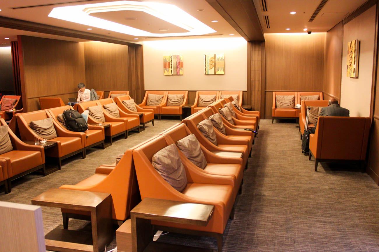 International JAL Sakura Lounge Kansai Airport Seating