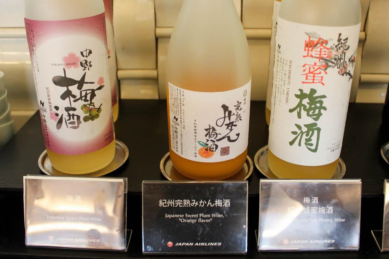 International JAL Sakura Lounge Kansai Airport Umeshu