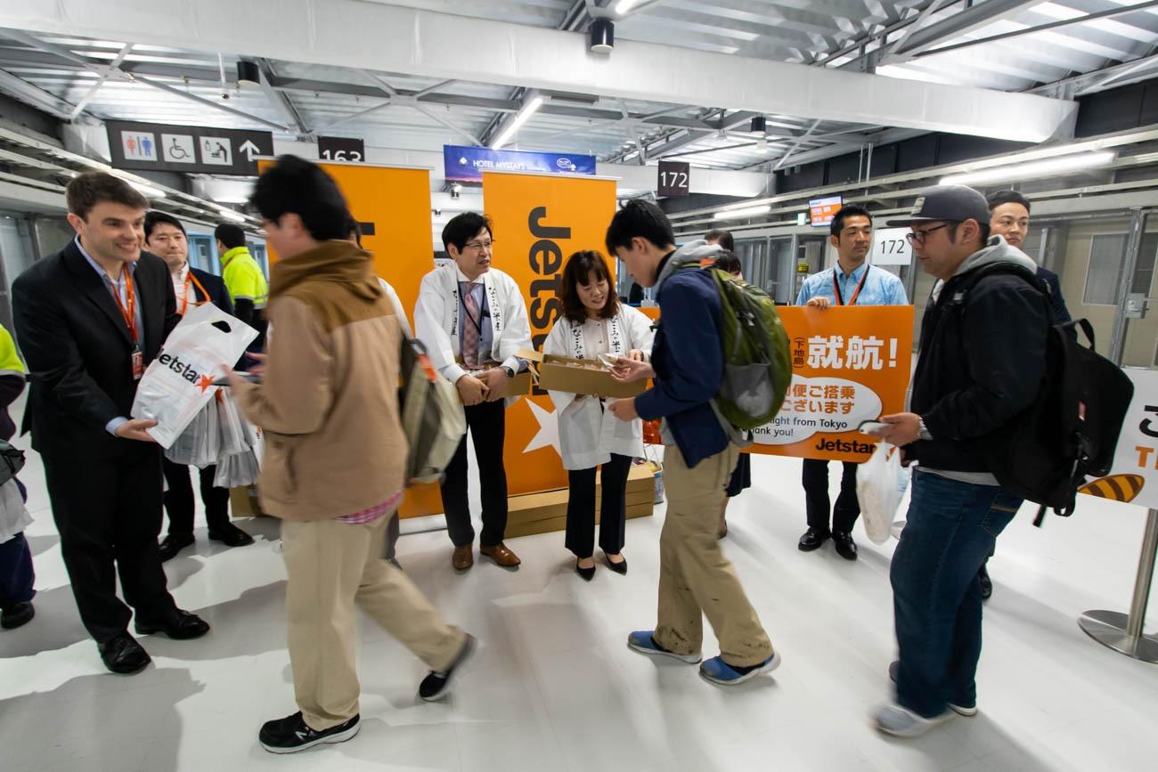 Jetstar Japan First Flight to Shimojishima Boarding