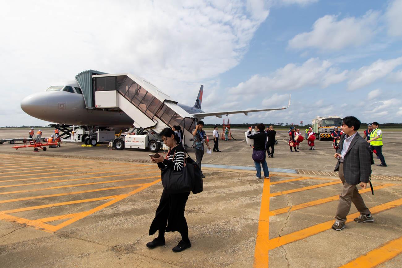 Jetstar Japan Airbus A320 at Shimojishima Airport