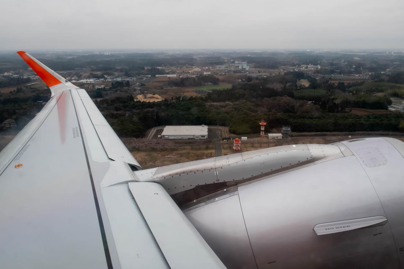 Take-off from Narita