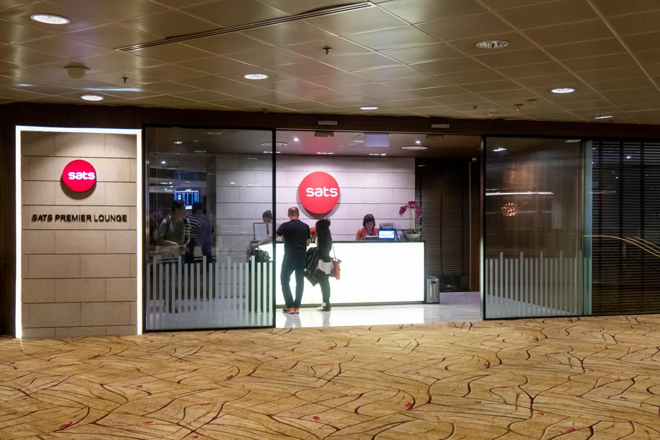 SATS Premier Lounge Singapore Terminal 2 Entrance