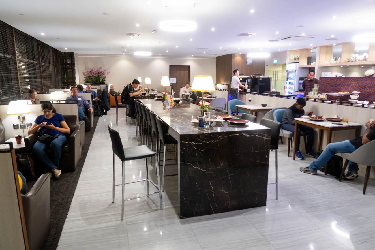 SATS Premier Lounge Singapore Terminal 2 Dining Area