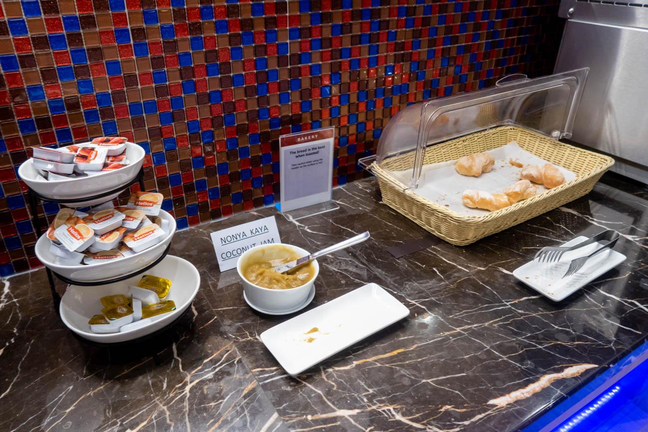 SATS Premier Lounge Singapore Terminal 2 Bread