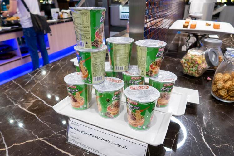 SATS Premier Lounge Singapore Terminal 2 Cup Noodles