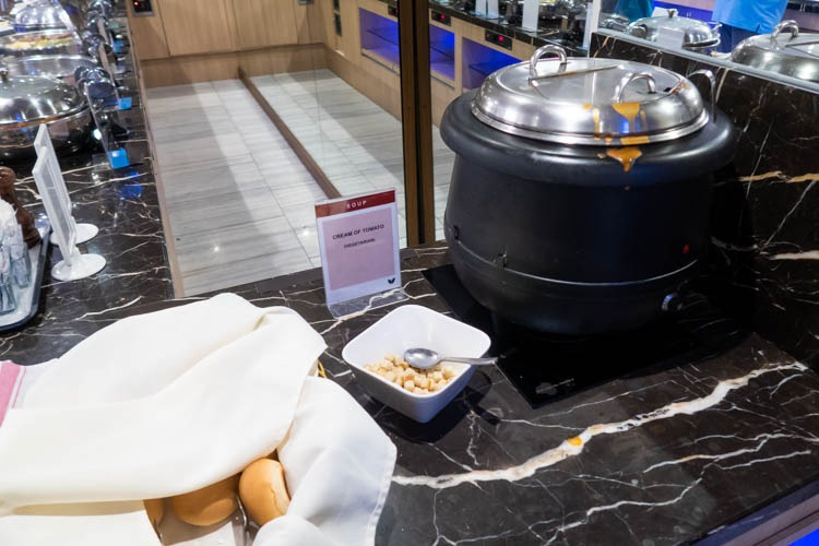 SATS Premier Lounge Singapore Terminal 2 Soup