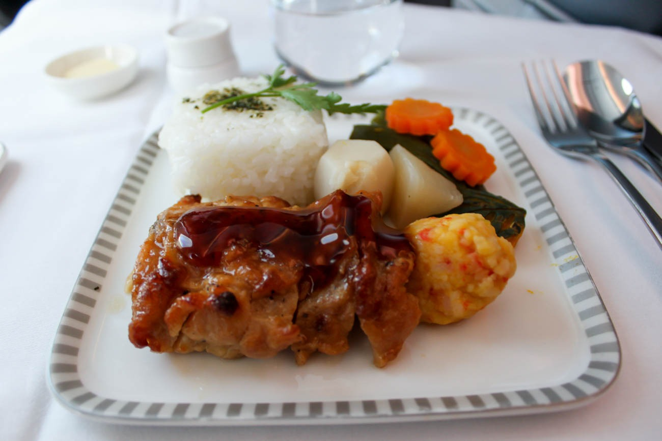 Singapore Airlines Business Class Meal Main