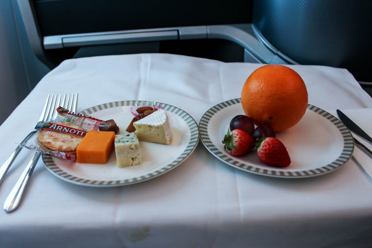 Singapore Airlines Business Class Cheese Plate