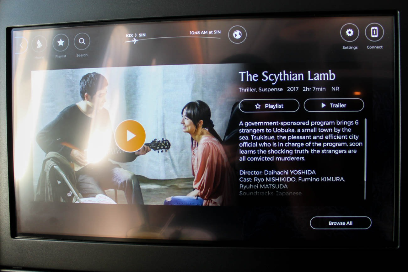Singapore Airlines In-Flight Entertainment