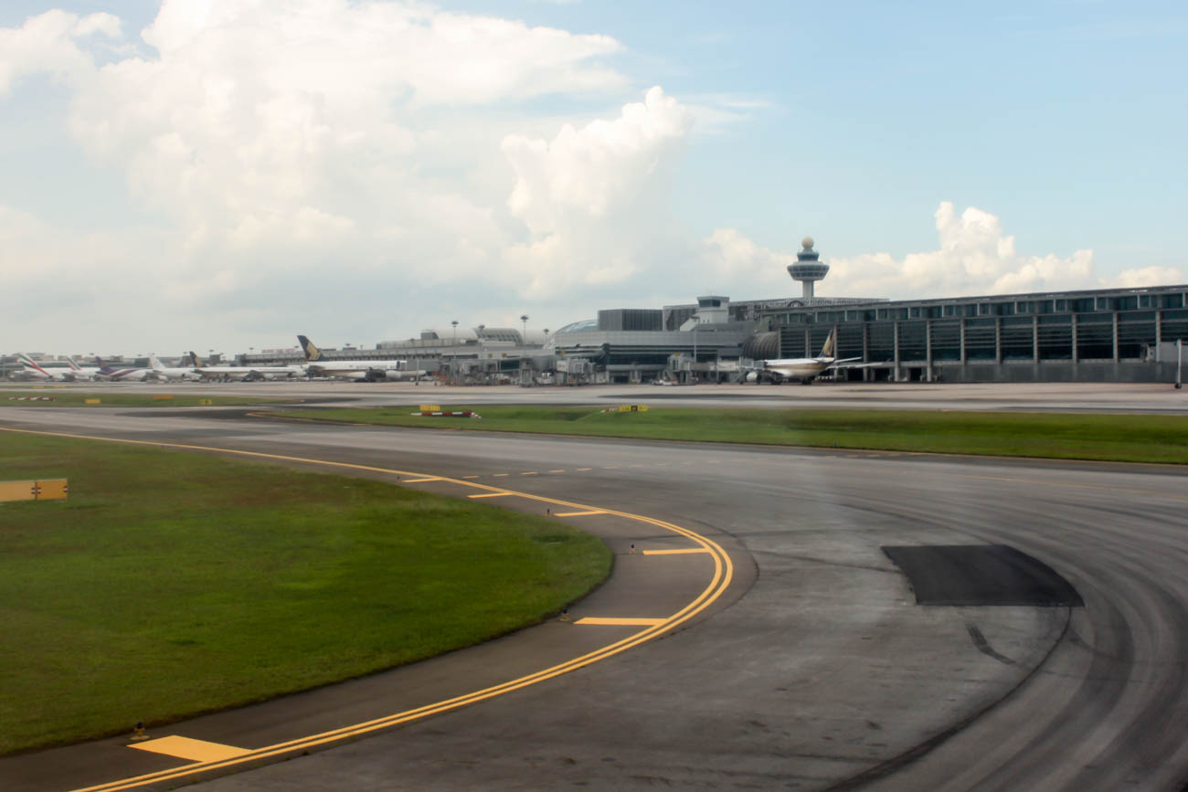 Taxiing After Landing at Singapore Changi Airport