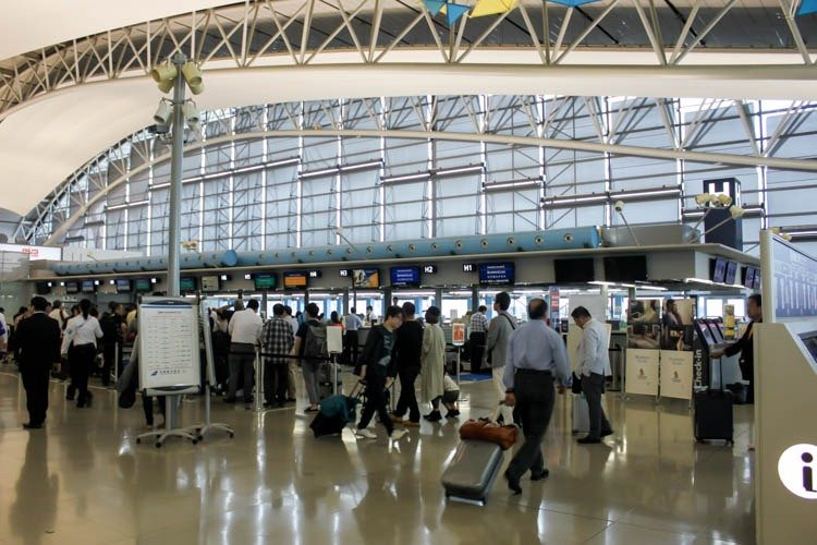 Singapore Airlines Check-in Counters at Osaka Kansai Airport